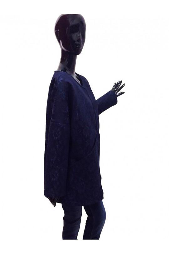 Темно синее женское пальто Арт. 101