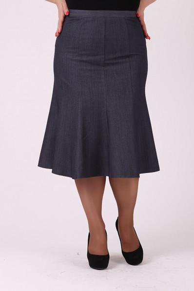 Серая юбка ниже колена Арт. 1225