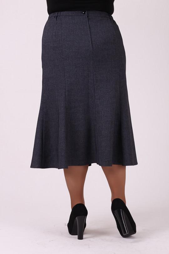 Серая юбка годе Арт. 1231