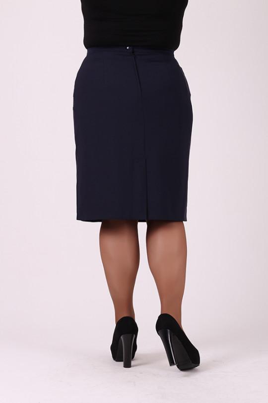 Темно синяя юбка карандаш Арт. 1233