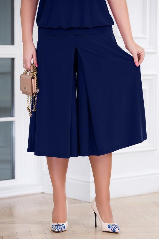Летняя юбка-брюки Темно синий Арт. 1310
