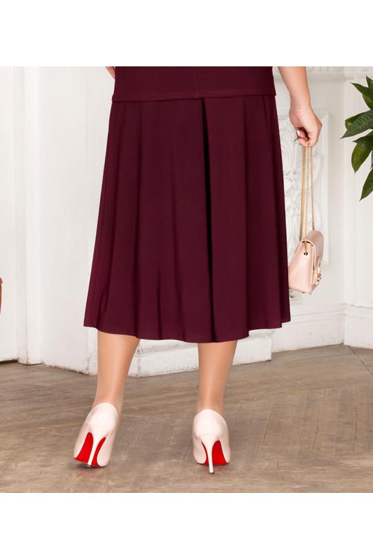 Летняя юбка-брюки Баклажан Арт. 1329