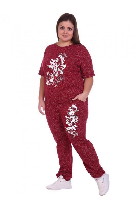 Бордовый женский спортивный костюм Арт. 1168