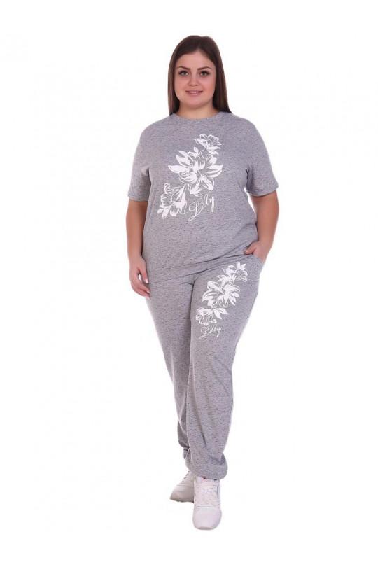 Светло серый женский спортивный костюм Арт. 1171