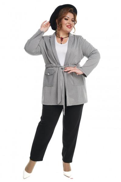 Брючный костюм большого размера с пиджаком Арт. 1203