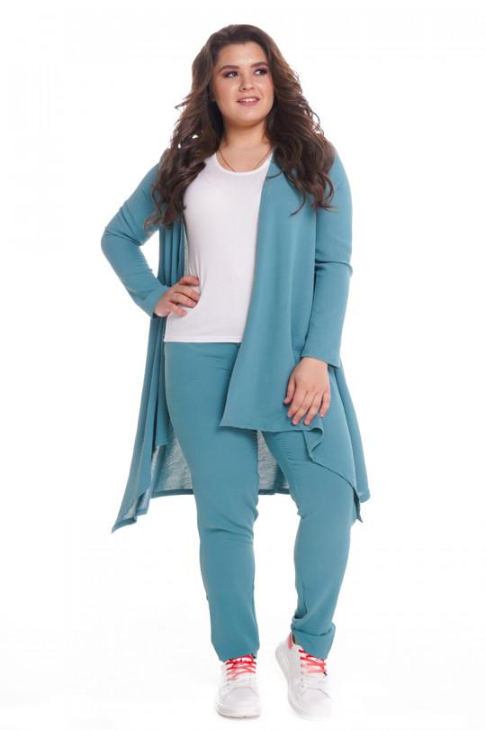 Женский повседневный костюм с туникой Мята Арт. 1314