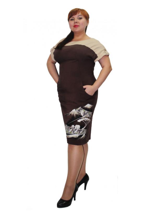 Летнее платье Шоколад Арт. 681