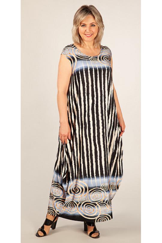 Лёгкое вискозное платье в стиле «бохо» без рукавов  Арт. 859