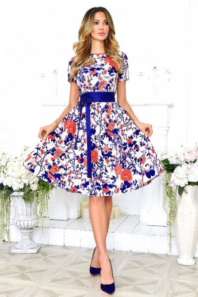 Летнее платье большого размера из хлопка  Арт. 1007