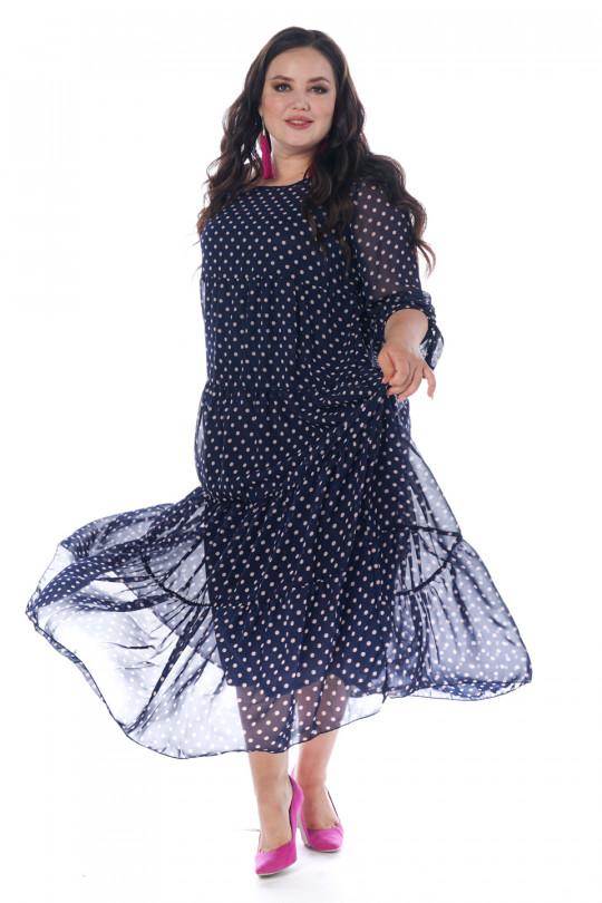 Шифоновое платье макси  Арт. 1317