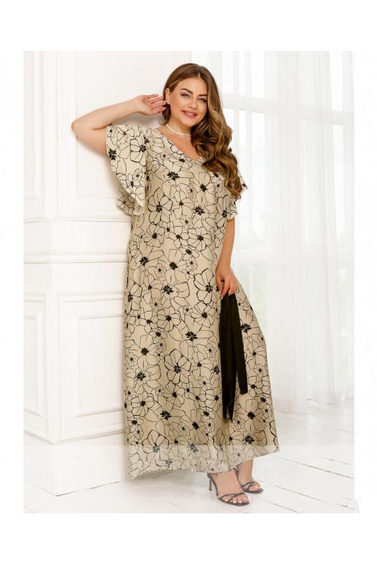 Летнее платье макси из шелка Арт. 1356