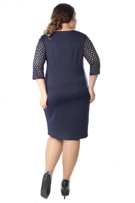 Синее элегантное платье Арт. 649