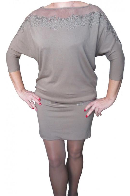 Коктейльное трикотажное платье  Арт. 653