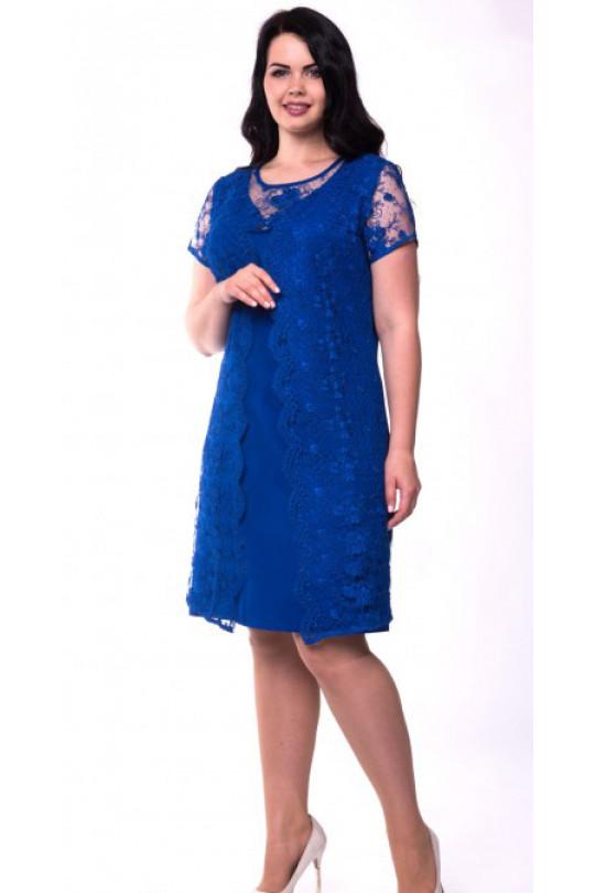 Стильное нарядное платье А силуэта Арт. 734