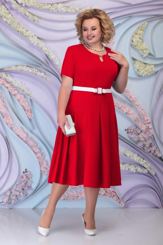 Красное нарядное платья с жакетом Арт. 1210