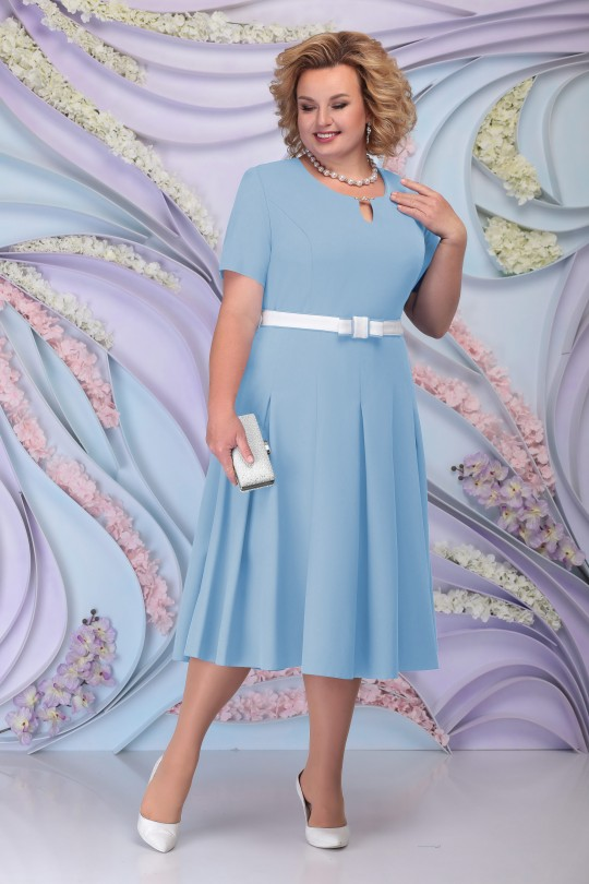 Голубое нарядное платья с жакетом Арт. 1211
