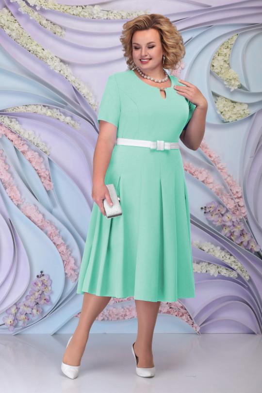 Светло зеленое нарядное платья с жакетом Арт. 1212