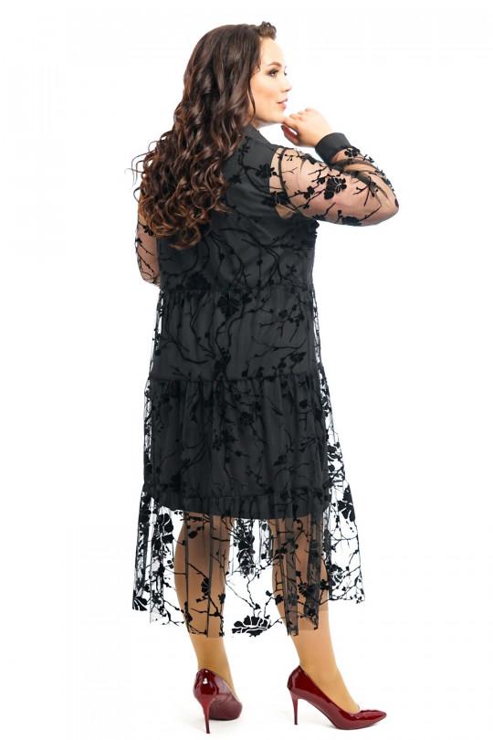 Черное коктейльное платье Арт. 1318