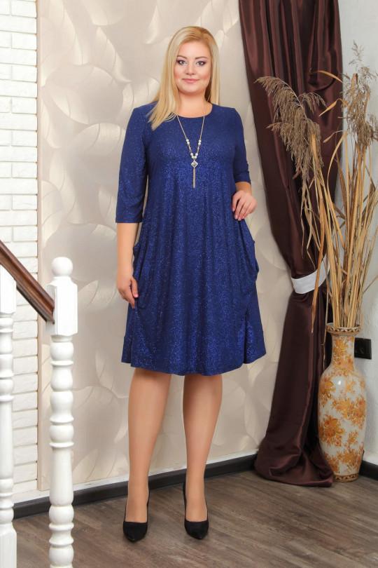 """Нарядное платье в стиле """"бохо"""" Синий  Арт. 924"""