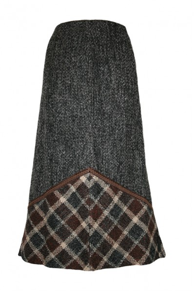 Теплая длинная юбка Арт. 340_2