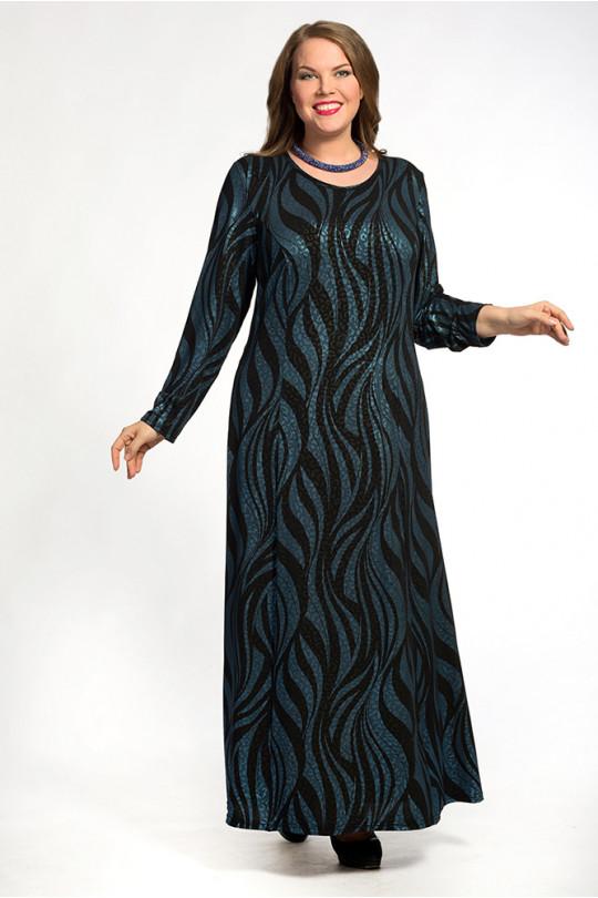 Вечернее платье в пол с длинным рукавом  Арт. 755