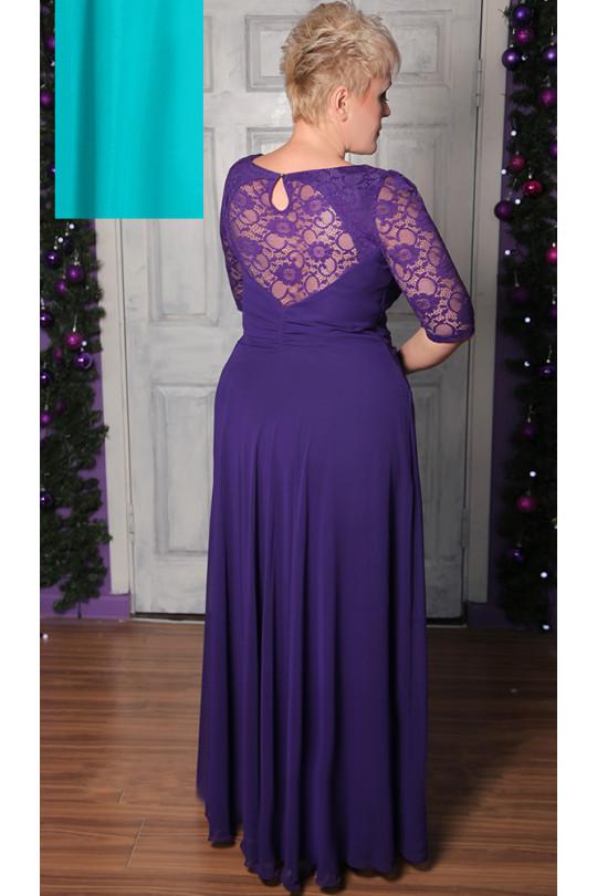 Вечернее платье в пол бирюзового цвета  Арт. 790