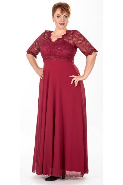 Вечернее платье в пол Цвет марсала  Арт. 791