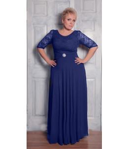 Вечернее платье в пол синего цвета  Арт. 794