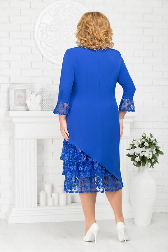 Нарядное платье цвет Василек  Арт. 953