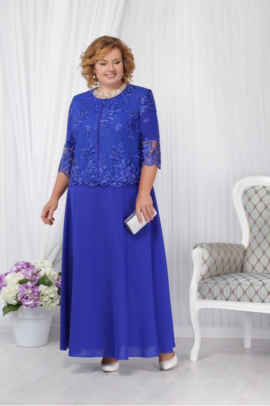 Вечернее платье из шифона с жакетом Арт. 956