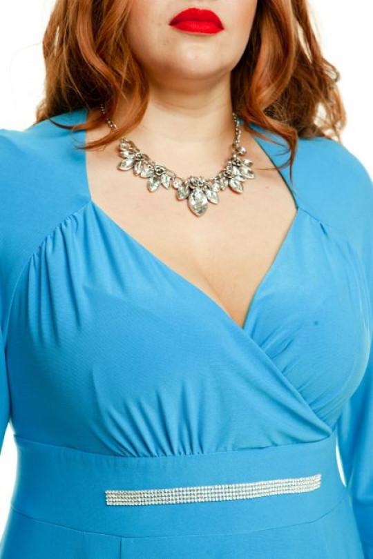 Нежно голубое вечернее платье  Арт. 1040