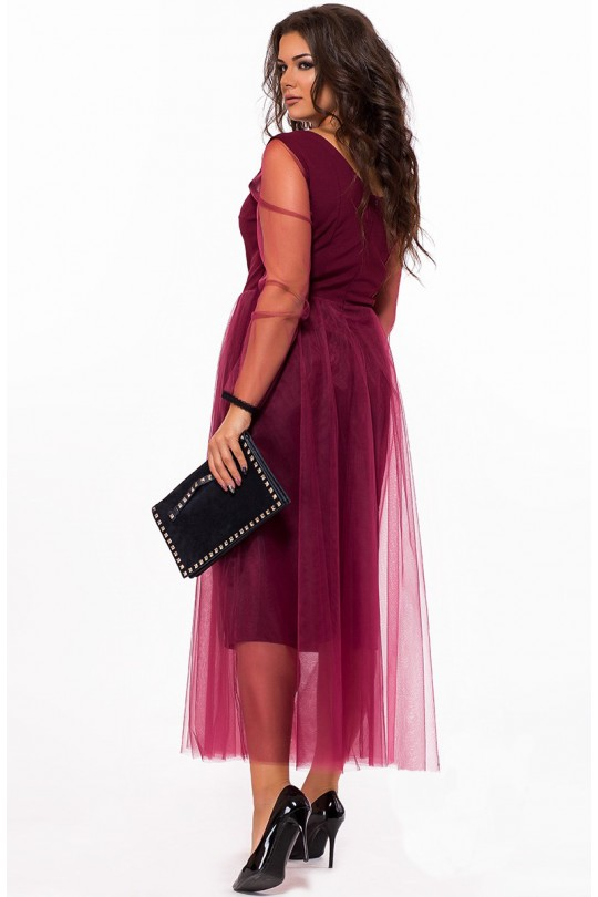 Нарядное платье из органзы большого размера  Арт. 1050