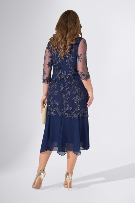 Элегантное вечернее платье полуприлегающего силуэта Арт. 1119