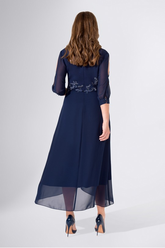 Вечернее платье полуприлегающего силуэта большого размера Арт. 1121