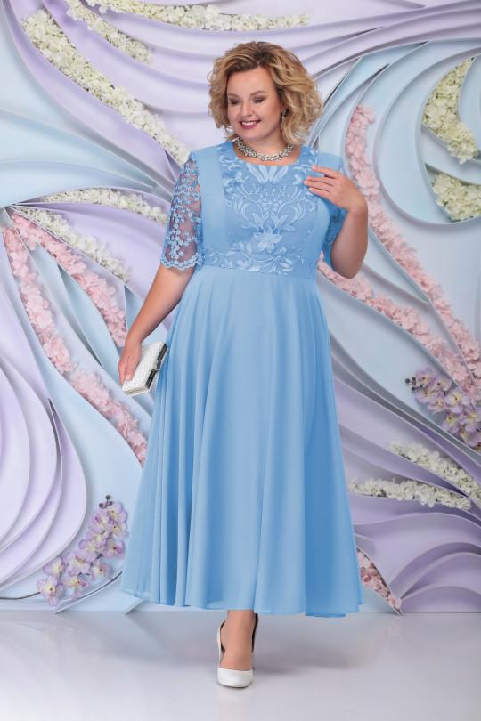 Голубое вечернее платье с жакетом Арт. 1214