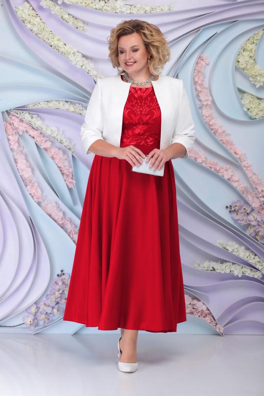 Красное вечернее платье с жакетом Арт. 1215