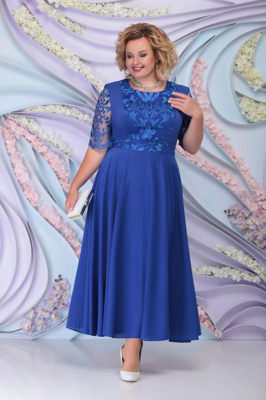 Вечернее платье с жакетом цвет Василек Арт. 1216