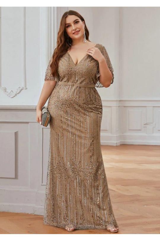 Вечернее платье в пол Цвет Золото Арт. 1293