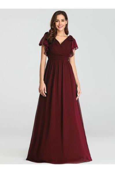 Вечернее платье в пол Цвет бордо  Арт. 1294