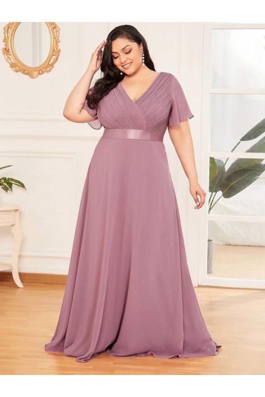 Вечернее платье большого размера из шифона Арт. 1330