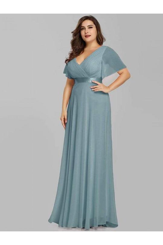 Вечернее платье большого размера из шифона Арт. 1331