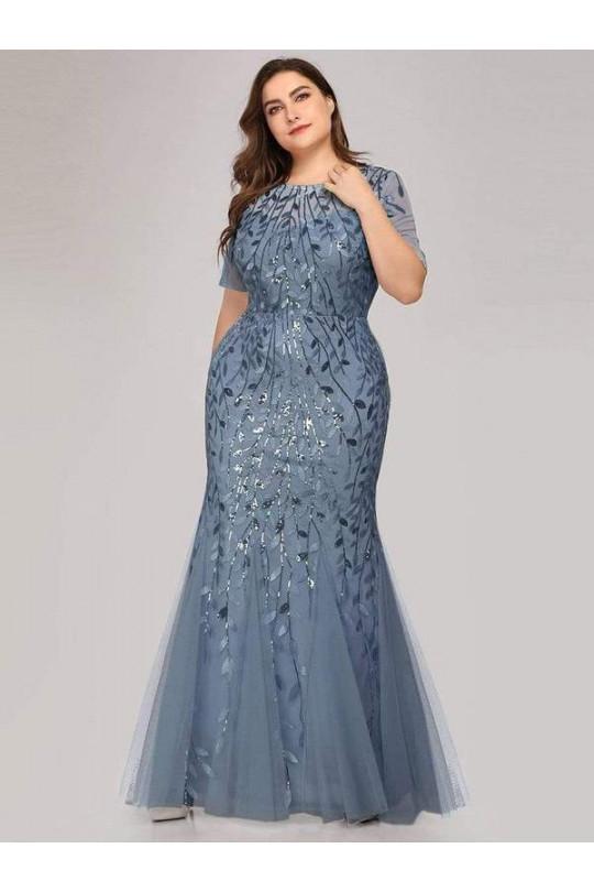 Вечернее платье - русалка большого размера Арт. 1333