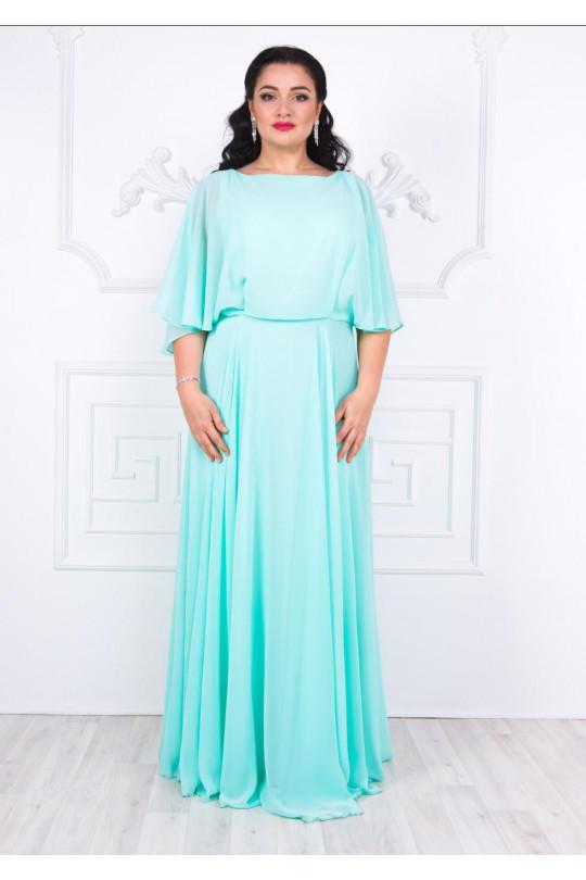 Вечернее платье из шифона цвет Ментол Арт. 1335