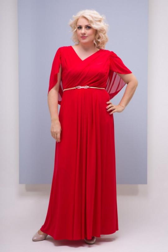 Красное вечернее платье в пол Арт. 1337