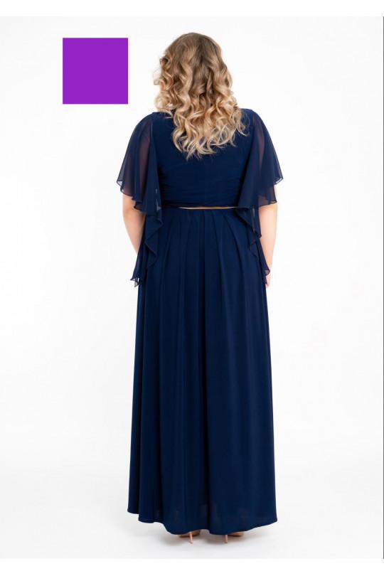 Лиловое вечернее платье в пол  Арт. 1339