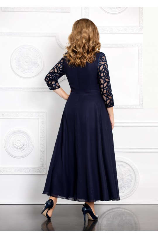 Удлиненное нарядное платье Арт. 1367