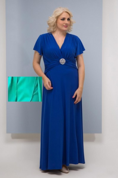 Вечернее платье в пол Цвет Мята Арт. 1369
