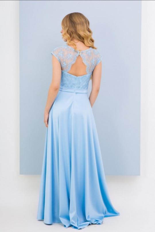 Вечернее платье в пол Цвет Голубой Арт. 1370