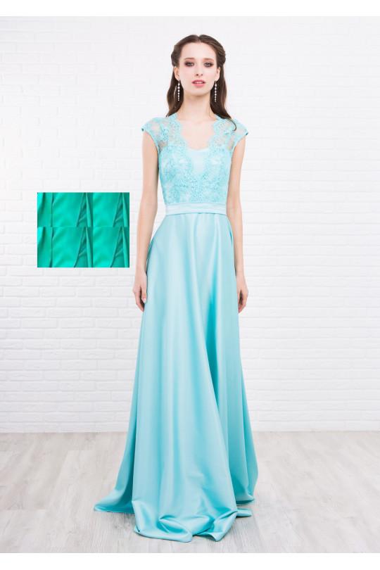 Вечернее платье в пол Цвет Светлая мята Арт. 1371