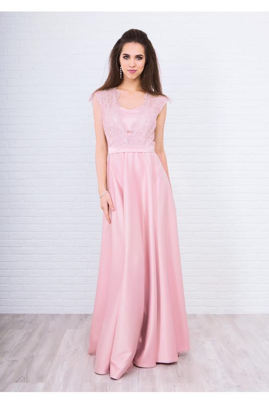 Вечернее платье в пол Цвет Светло персиковый Арт. 1372